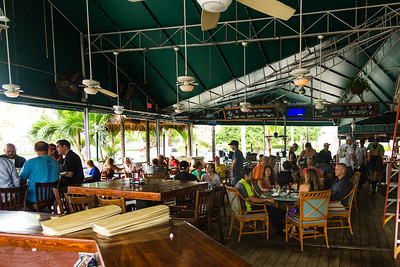 Things start to return to normal at E.R . Bradley's in downtown West Palm Beach on Friday, October 7, 2016, the day after Hurricane Matthew brushed the Palm Beach County coast line. (Joseph Forzano / The Palm Beach Post)