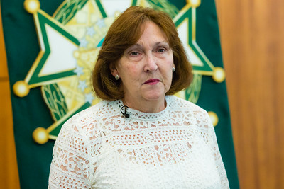"""Margaret Fisher, of Lake Worth received a Good Samaritan award from the Palm Beach County Sheriff's Office at the Palm Beach County Convention Center in West Palm Beach on Thursday, November 3, 2016. Fisher saw a """"Silver Alert"""" on The Palm Beach Post website and called PBSO after seeing the missing man in Greenacres. (Joseph Forzano / The Palm Beach Post)"""