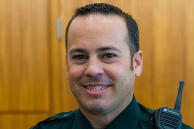 PBSO deputy Casey Lussier. Lussier had trouble restraining an agitated suspect at a gas station Wellington, when Jason Shephard threw himself on the suspect and with the help of the deputy restrained the suspect until backup arrived. (Joseph Forzano / The Palm Beach Post)