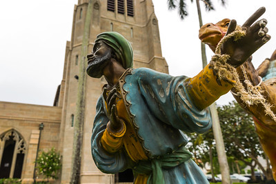 One of the many nativity figures on display on the grounds of The Church of Bethesda-by-the-Sea in Palm Beach, Wednesday, December 21, 2016. (Joseph Forzano / The Palm Beach Post)