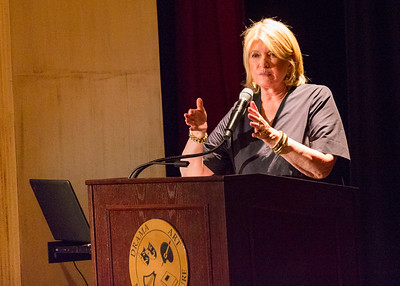 Martha Stewart talks to members of The Garden Club of Palm Beach at the Gubelmann Auditorium at the Society of the Four Arts in Palm Beach on Thursday, February 23, 2017. (Joseph Forzano / Daily News)