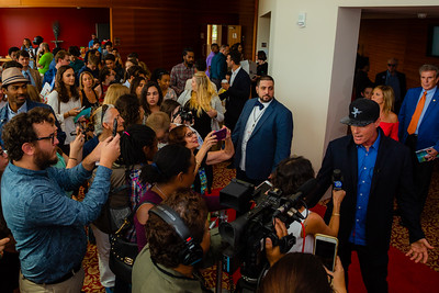 A throng of fans tries to capture the perfect shot of Vanilla Ice while he is interviewed on the red carpet of the 2018 Palm Beach Film Festival Student Showcase of Film. The festival was held at the Wold Theater on the Lynn University Campus in Boca Raton on Friday, March 6, 2018.  (Joseph Forzano / The Palm Beach Post)