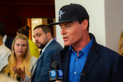 Vanilla Ice is interviewed on the red carpet of the 2018 Palm Beach Film Festival Student Showcase of Film. The festival was held at the Wold Theater on the Lynn University Campus in Boca Raton on Friday, March 6, 2018.  (Joseph Forzano / The Palm Beach Post)