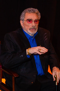 Legendary actor Burt Reynolds talks to the media while waiting backstage at the 2018 Palm Beach Film Festival Student Showcase of Film. The festival was held at the Wold Theater on the Lynn University Campus in Boca Raton on Friday, March 6, 2018.  (Joseph Forzano / The Palm Beach Post)