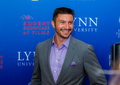 Actor Chris Hayes smiles on the red carpet of the 2018 Palm Beach Film Festival Student Showcase of Film. The festival was held at the Wold Theater on the Lynn University Campus in Boca Raton on Friday, March 6, 2018.  (Joseph Forzano / The Palm Beach Post)