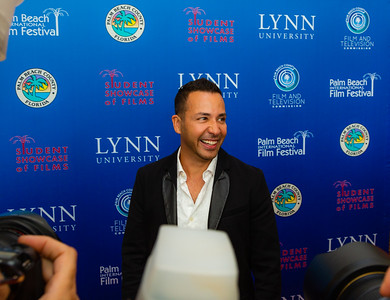 Howie Dorough of the Backstreet Boys smiles as he walks the red carpet of the 2018 Palm Beach Film Festival Student Showcase of Film. The festival was held at the Wold Theater on the Lynn University Campus in Boca Raton on Friday, March 6, 2018.  (Joseph Forzano / The Palm Beach Post)