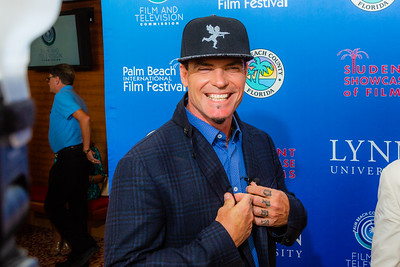 Vanilla Ice on the red carpet of the 2018 Palm Beach Film Festival Student Showcase of Film. The festival was held at the Wold Theater on the Lynn University Campus in Boca Raton on Friday, March 6, 2018.  (Joseph Forzano / The Palm Beach Post)