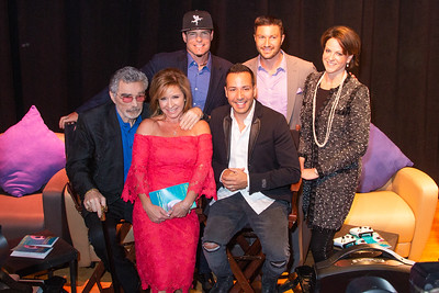 Burt Reynolds, Michelle Hillery, Vanilla Ice, Howie Dorough, Chris Hayes and Suzanne Niedland (Palm Beach International Film Festival Board of Directors) pose together for a photo backstage before the start of the 2018 Palm Beach Film Festival Student Showcase of Film. The festival was held at the Wold Theater on the Lynn University Campus in Boca Raton on Friday, March 6, 2018.  (Joseph Forzano / The Palm Beach Post)