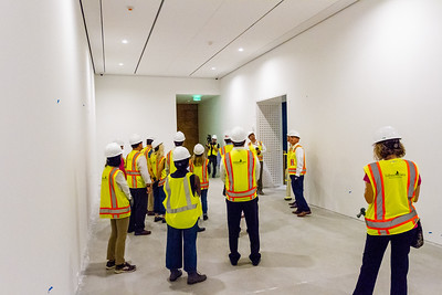 John Backman, Project Director, The New Norton, takes a group of Palm Beach Post staffers on a tour of the new construction at the Norton Museum of Art  in West Palm Beach on Tuesday, June 26, 2018. The New Norton is scheduled to open in February 2019. (Joseph Forzano / The Palm Beach Post)