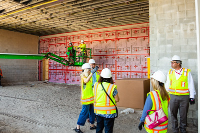 John Backman (right), Project Director, The New Norton, takes a group of Palm Beach Post staffers on a tour of the new construction at the Norton Museum of Art  in West Palm Beach on Tuesday, June 26, 2018. The New Norton is scheduled to open in February 2019. (Joseph Forzano / The Palm Beach Post)
