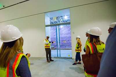 John Backman (center), Project Director, The New Norton, takes a group of Palm Beach Post staffers on a tour of the new construction at the Norton Museum of Art  in West Palm Beach on Tuesday, June 26, 2018. The New Norton is scheduled to open in February 2019. (Joseph Forzano / The Palm Beach Post)