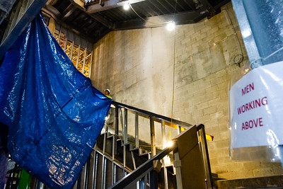 The central staircase under construction at the Norton Museum of Art  in West Palm Beach on Tuesday, June 26, 2018. The New Norton is scheduled to open in February 2019. (Joseph Forzano / The Palm Beach Post)