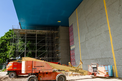 A look at the new front entrance still under  construction at the Norton Museum of Art  in West Palm Beach on Tuesday, June 26, 2018. The New Norton is scheduled to open in February 2019. (Joseph Forzano / The Palm Beach Post)