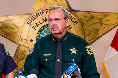 Palm Beach County Sheriff Ric Bradshaw at a briefing for the media  on the shooting that took place at Palm Beach Central High School on Saturday, August 18, 2018. (Joseph Forzano / The Palm Beach Post)