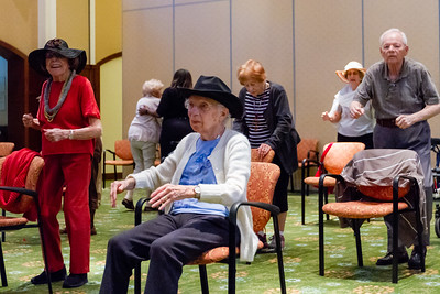 Residents of Tradition at MorseLife in West Palm Beach participate s in a Zuma exercise class on Wednesday, October 31, 2018.  [JOSEPH FORZANO/palmbeachpost.com]