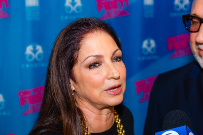 "Gloria Estefan talks to the media before the opening of the musical ""ON YOUR FEET!"" (The story of Emilio and Gloria Estefan) at the Kravis Center in West Palm Beach on Tuesday, January 8, 2019. [JOSEPH FORZANO/palmbeachdailynews.com]"