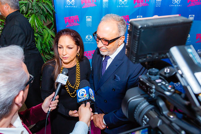 "Gloria and Emilio Estefan talk to the media before the opening of their musical ""ON YOUR FEET!"" (The story of Emilio and Gloria Estefan) at the Kravis Center in West Palm Beach on Tuesday, January 8, 2019. [JOSEPH FORZANO/palmbeachdailynews.com]"