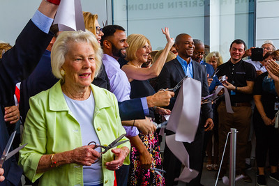 West Palm Beach Mayor Jeri Muoio cut the grand opening ribbon along with members of the board of trustees and past and present executive directors of the Norton during the grand opening ceremonies on Saturday, February 9, 2019. [JOSEPH FORZANO/palmbeachpost.com]