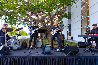 The Millennials Band performs on the Heyman Plaza at the grand opening of the Norton Museum of the Arts in West Palm Beach on Saturday, February 9, 2019. [JOSEPH FORZANO/palmbeachpost.com]
