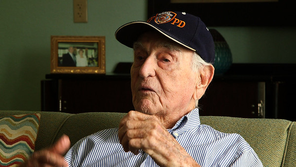 Word War II veteran James Dougherty recounts his landing on Omaha Beach during the Allied invasion of Normandy on June 6, 1944, at his home in Abbey Delray in Delray Beach on Tuesday, February 26, 2019. [JOSEPH FORZANO/palmbeachpost.com]