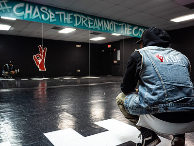 Flaco Luna in his dance studio, Organized Kaos Dance Academy in Lake Worth on Tuesday, March 19, 2019. [JOSEPH FORZANO/palmbeachpost.com]