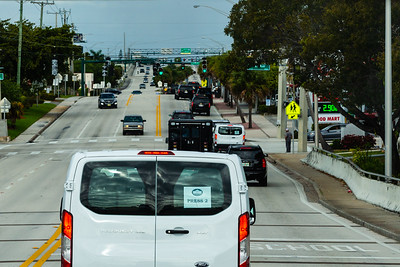 President Donald J. Trump's motorcade travels west on Southern Blvd.,  heading toward Trump International Golf Club on Saturday, March 30, 2019. [JOSEPH FORZANO/palmbeachpost.com]
