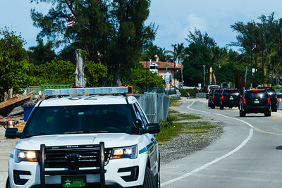 President Donald J. Trump's motorcade crosses Bingham Island heading back to Mar-a-Lago on Saturday, March 30, 2019. [JOSEPH FORZANO/palmbeachpost.com]