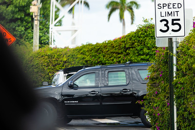 President Donald J. Trump's motorcade leaves Mar-a-Lago to head to Trump International Golf Club on Saturday,  March 30, 2019. [JOSEPH FORZANO/palmbeachpost.com]
