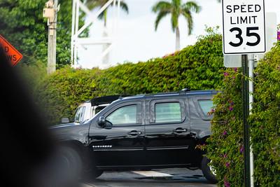 President Donald J. Trump's motorcade leaves Mar-a-Lago to head to Trump International Golf Club on Saturday,  March 30, 2019. [JOSEPH FORZANO/palmbeachpost.com]