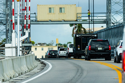 President Donald J. Trump's motorcade crosses the Intracoastal Waterway heading toward Trump International Golf Club on Saturday, March 30, 2019. [JOSEPH FORZANO/palmbeachpost.com]