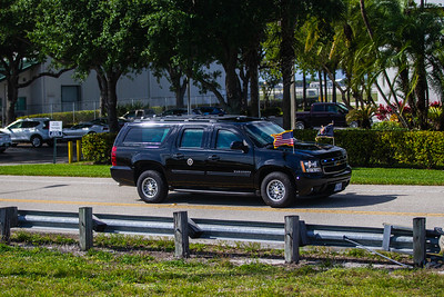 President Donald J. Trump's motorcade heads back to Palm Beach International Airport on Sunday, March 31, 2019. [JOSEPH FORZANO/palmbeachpost.com]