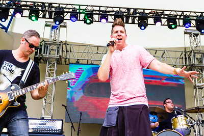 Justin Shaner, guitar and Bruce Donaldson, lead singer of Lochness Monster performing at SunFest, May 2, 2019. [JOSEPH FORZANO]