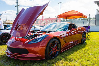 A 2015 Chevrolet Corvette Stingray, owned by Jeff Brandt of Royal Palm Beach at the Super Chevy Show at Palm Beach International Raceway in Jupiter, on Saturday, May 25, 2019. [JOSEPH FORZANO/palmbeachpost.com]
