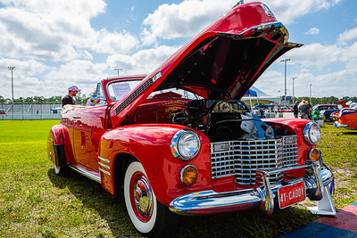 A 1941 Cadillac Convertible Sedan owned by Melvyn Lipsschitz of Palm Beach Gardens at the Super Chevy Show at Palm Beach International Raceway in Jupiter on Saturday, May 25, 2019.  [JOSEPH FORZANO/palmbeachpost.com]