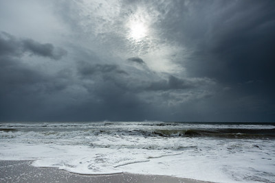 The sun peeks out over the Atlantic in between feeder bands in Delray Beach on Tuesday, September 3, 2019 as Hurricane Dorian begins to slide up north, just off Florida's east coast. [JOSEPH FORZANO/palmbeachpost.com]