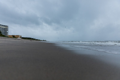 The beach at Atlantic Dunes in Delray Beach is empty on Tuesday, September 3, 2019 as Hurricane Dorian begins to slide up north, just off Florida's east coast. [JOSEPH FORZANO/palmbeachpost.com]