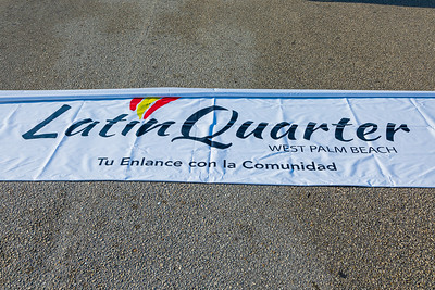 The Latin Quarter banner that will be carried during the 1st Annual Latin Quarter WPB 2019 Hispanic Heritage Month Parade, on Saturday, October 5, 2019. [JOSEPH FORZANO/palmbeachpost.com]