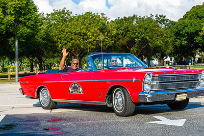 Grand Marshall and West Palm Beach Mayor Keith James turns into St. Juliana's Catholic Church during the 1st Annual Latin Quarter WPB 2019 Hispanic Heritage Month Parade, on Saturday, October 5, 2019. [JOSEPH FORZANO/palmbeachpost.com]