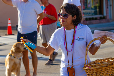 Dina Rubin, founder and chairman of the Latin Quarter of West Palm Beach, marches in the parade during the 1st Annual Latin Quarter WPB 2019 Hispanic Heritage Month Parade, on Saturday, October 5, 2019. [JOSEPH FORZANO/palmbeachpost.com]