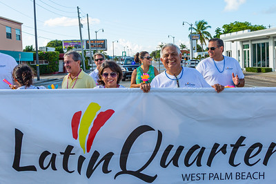 Dina Rubin (left), founder of the Latin Quarter of West Palm Beach, and Las Mur, co-founder of the Latin Quarter before the start of the 1st Annual Latin Quarter WPB 2019 Hispanic Heritage Month Parade, on Saturday, October 5, 2019. [JOSEPH FORZANO/palmbeachpost.com]