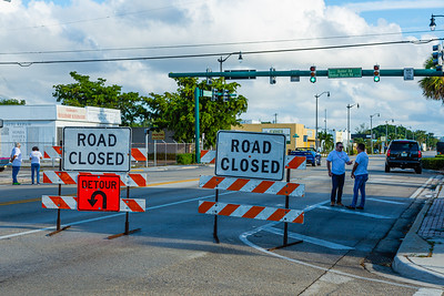 Dixie Highway is closed at Bunker Road ahead of the start of the 1st Annual Latin Quarter WPB 2019 Hispanic Heritage Month Parade north to St Juliana's Catholic Church on Saturday, October 5, 2019. [JOSEPH FORZANO/palmbeachpost.com]