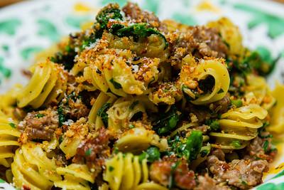Radiatori Pasta with fennel sausage, rapini, pecorino sardo. Scusi Trattoria, located at 4520 PGA Blvd., Palm Beach Gardens, FL, on Thursday, November 21, 2019. [JOSEPH FORZANO/palmbeachpost.com]