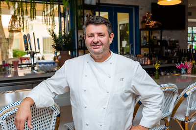 Chef Laurent Tourondel of Scusi Trattoria, located at 4520 PGA Blvd., Palm Beach Gardens, FL, on Thursday, November 21, 2019. Tourondel, the internationally famous chef behind the global BLT restaurant brands, has opened Scusi Trattoria in the former Vic and Angelo's location in Palm Beach Gardens. [JOSEPH FORZANO/palmbeachpost.com]
