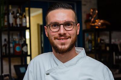 Chef Simone Apostoli of Scusi Trattoria, located at 4520 PGA Blvd., Palm Beach Gardens, FL, on Thursday, November 21, 2019.  [JOSEPH FORZANO/palmbeachpost.com]