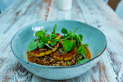 Heirloom squash hoppin' john, with sea island red peas and carolina gold rice, one of  many vegetable dishes at Sassafras. Sassafras, located at 105 S Narcissus Ave., West Palm Beach, FL, on Friday, November 22, 2019. [JOSEPH FORZANO/palmbeachpost.com]