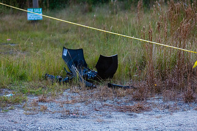 An Amtrak train collided with a SUV at the entrance of J.W. Corbett Wildlife Management Area in West Palm Beach on Saturday, November 23, 2019. One adult and two children were killed. The train crossing, does not have crossing gates or flashing lights.  Debris from the impact littered the area. [JOSEPH FORZANO/palmbeachpost.com]