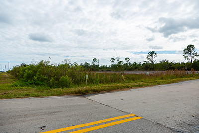 A southwest look at the J.W. Corbett entrance where an Amtrak train collided with a SUV Saturday, November 23, 2019, killing one adult and two children.  The train tracks are in the background.   [JOSEPH FORZANO/palmbeachpost.com]