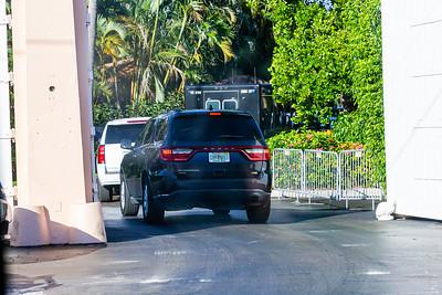 President Donald J. Trump's motorcade turns into Mar-a-Lago on Palm Beach on Saturday, January 04, 2020. [JOSEPH FORZANO/palmbeachpost.com]