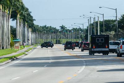 President Donald J. Trump's motorcade turns into Trump International Golf Club on Summit Blvd. in West Palm Beach on Saturday, January 04, 2020. [JOSEPH FORZANO/palmbeachpost.com]