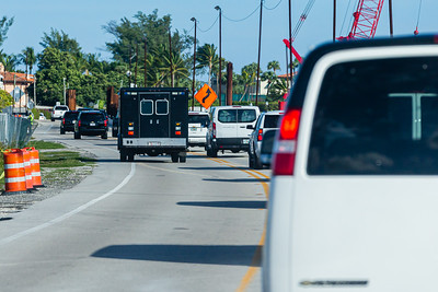 President Donald J. Trump's motorcade heads east on Southern Blvd., on its way to Mar-a-Lago after leaving Trump International Golf Club in West Palm Beach on Saturday, January 04, 2020. [JOSEPH FORZANO/palmbeachpost.com]